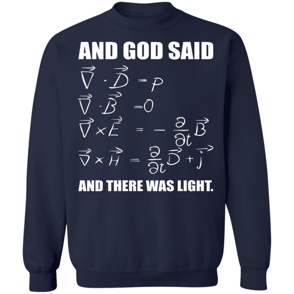 God Said Maxwell Equations and then there was light ugly christmas sweater sweatshirt