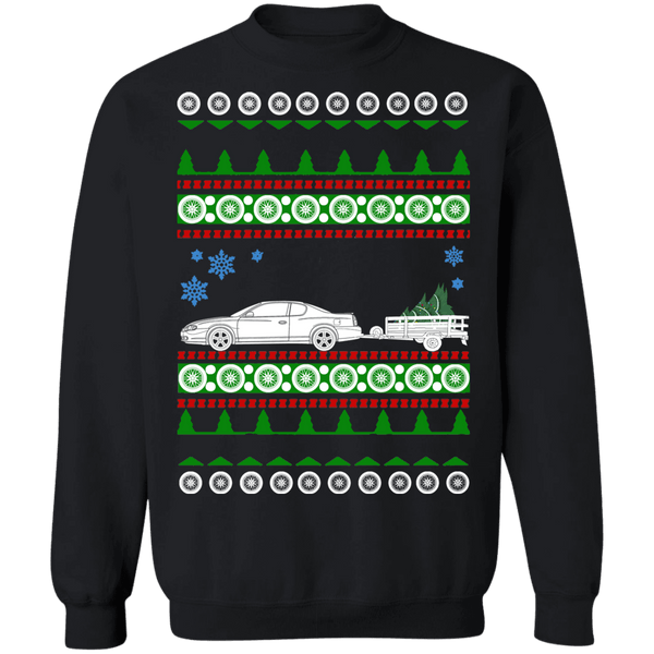 2000 Monte Carlo with trailer Ugly Christmas Sweater sweatshirt special