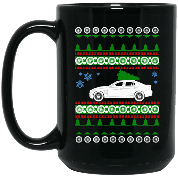 "BMW F80 M3 Coffee Mug Ugly Christmas ""Sweater"" 15 oz"