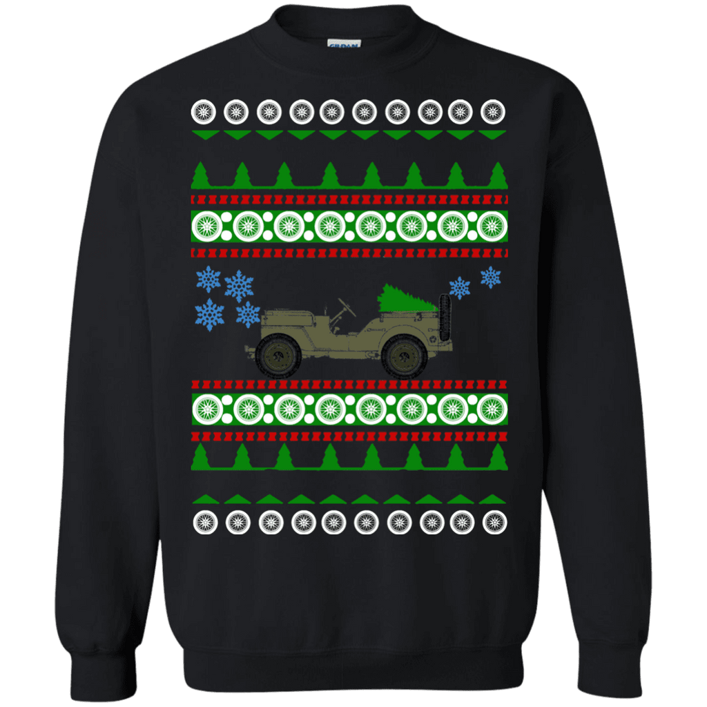 Jeep Willys SK Ugly Christmas Sweater army sweatshirt