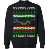 Jeep Willys SK Ugly Christmas Sweater army