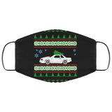 Ford Mustang Notchback Ugly Christmas Sweater Style Face Mask