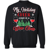 My Holiday Cheer Comes in a Wine Glass Ugly Christmas Sweater sweatshirt