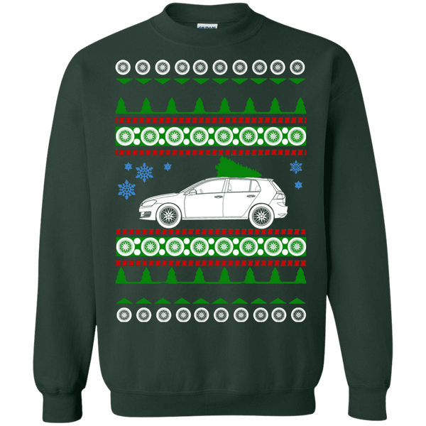 vw mk7 gti golf 4 door ugly christmas sweater
