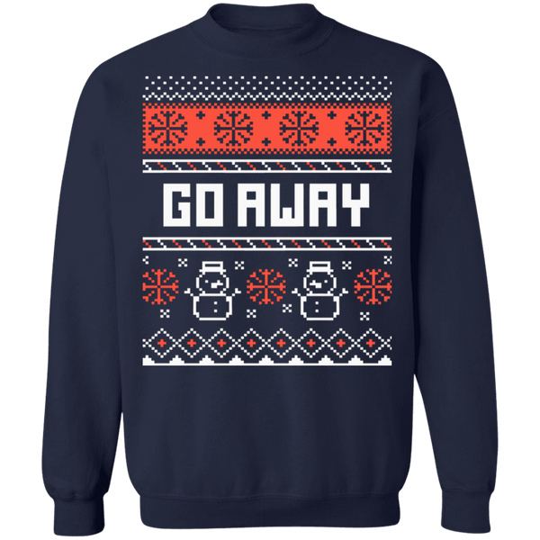Go Away Grinch ugly christmas sweater sweatshirt