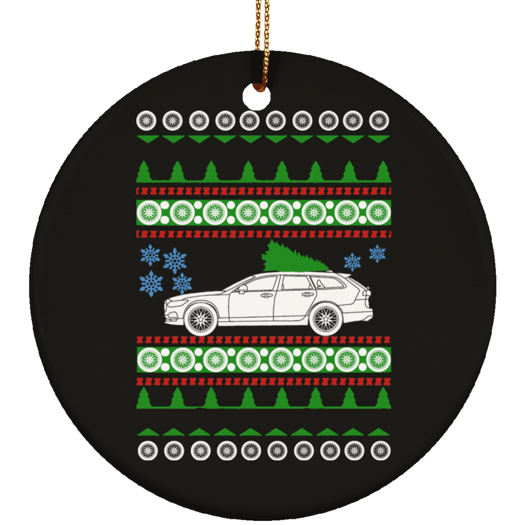 Volvo V90 Ugly Christmas Sweater Ornament