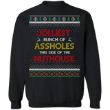 Jolliest Bunch of Assholes Ugly Christmas Sweater sweatshirt