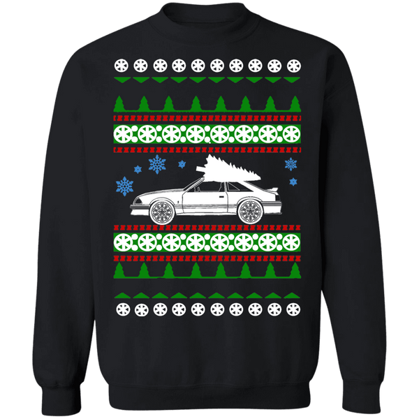 1980s Ford Mustang GT Ugly Christmas Sweater