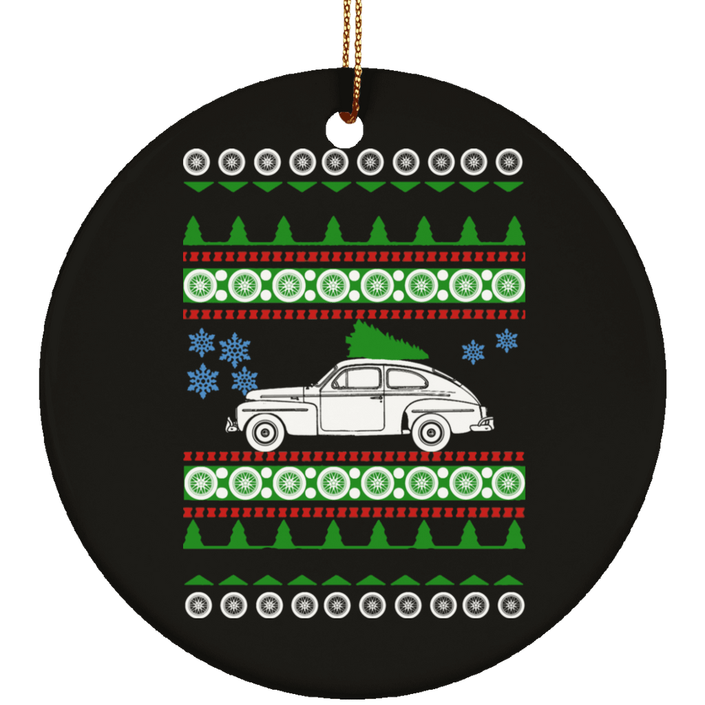 Volvo PV544 Ugly Christmas Sweater Ornament