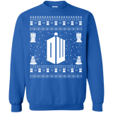 Gift for Fans of Doctor Who Tardis Ugly Christmas Sweater version 2 sweatshirt