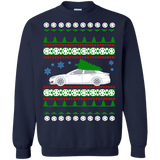 Electric Car Tesla Model S new Ugly Christmas Sweater green tree