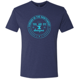 Forged Aqua Logo mens tri-blend T-shirt