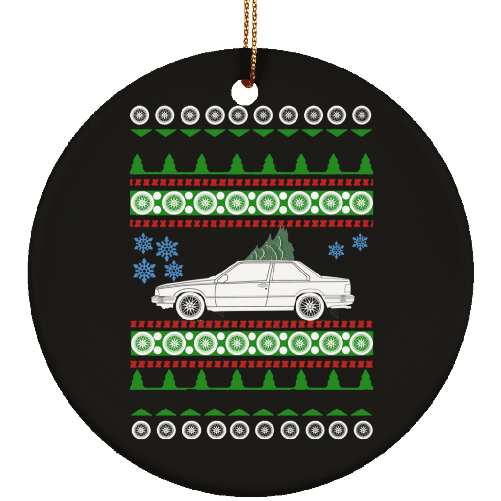 Volvo 780 Bertone Ugly Christmas Sweater Ornament