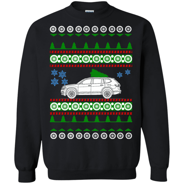 German Car SUV Atlas vw Ugly Christmas Sweater sweatshirt