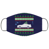 Shelby Ford Mustang GT 350 Ugly Christmas Sweater Style Face Mask