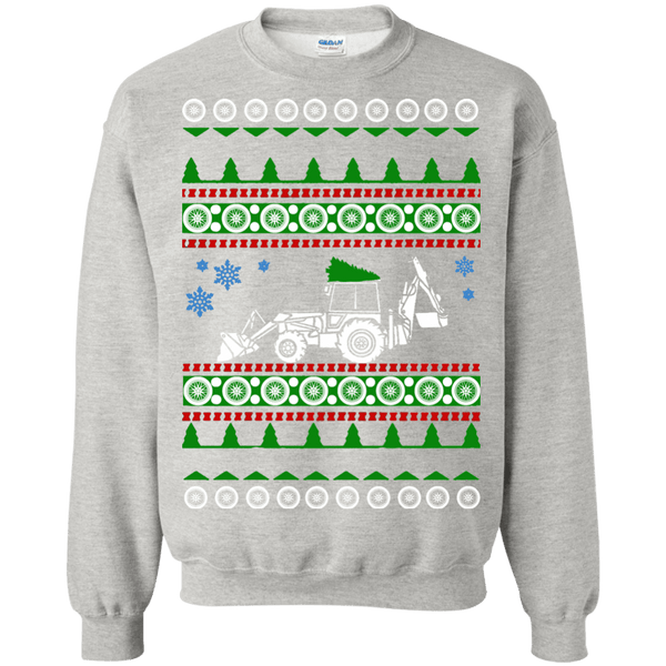 Backhoe ugly christmas sweater