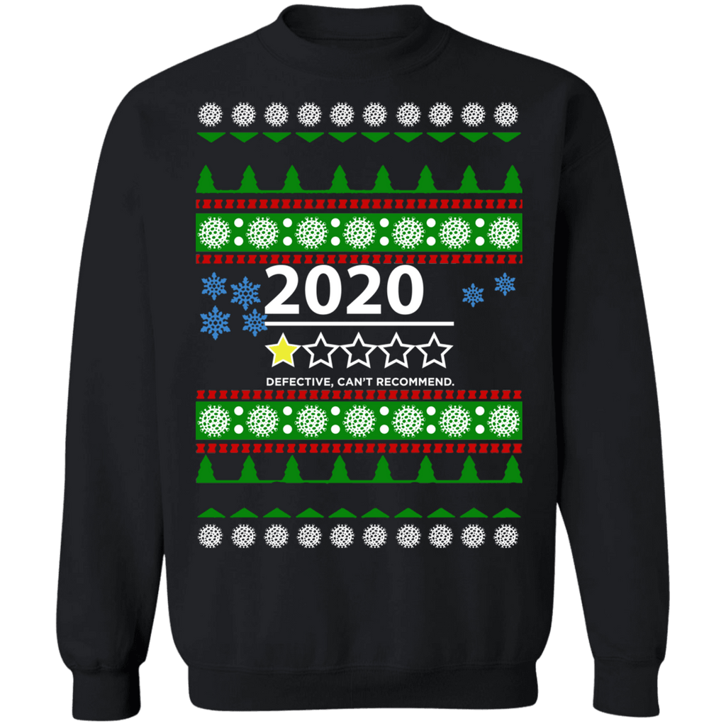 2020 Ugly Christmas Sweater 1 Star Review Defective