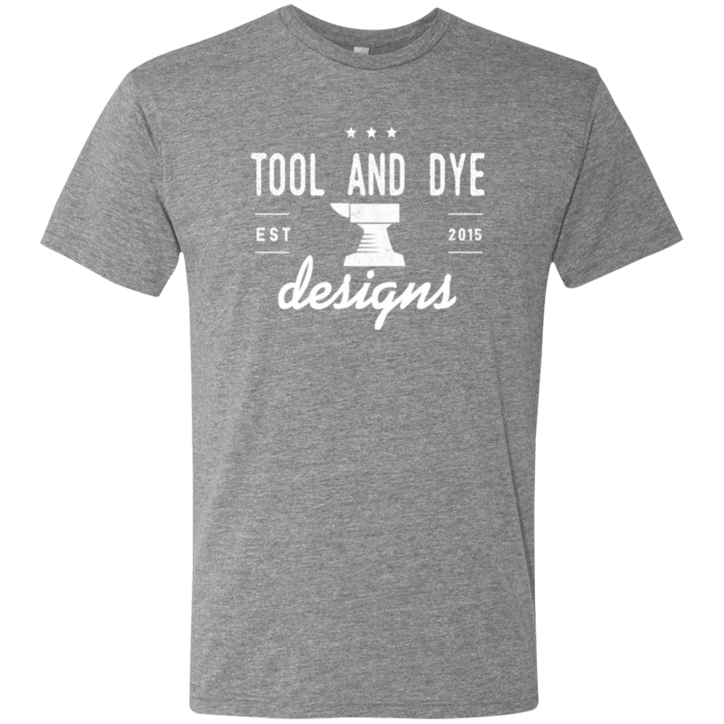Tool and Dye Classic white logo mens tri-blend
