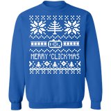 Merry Christmas ClickMas Cameraman Photographer Videographer Ugly Christmas Sweater sweatshirt