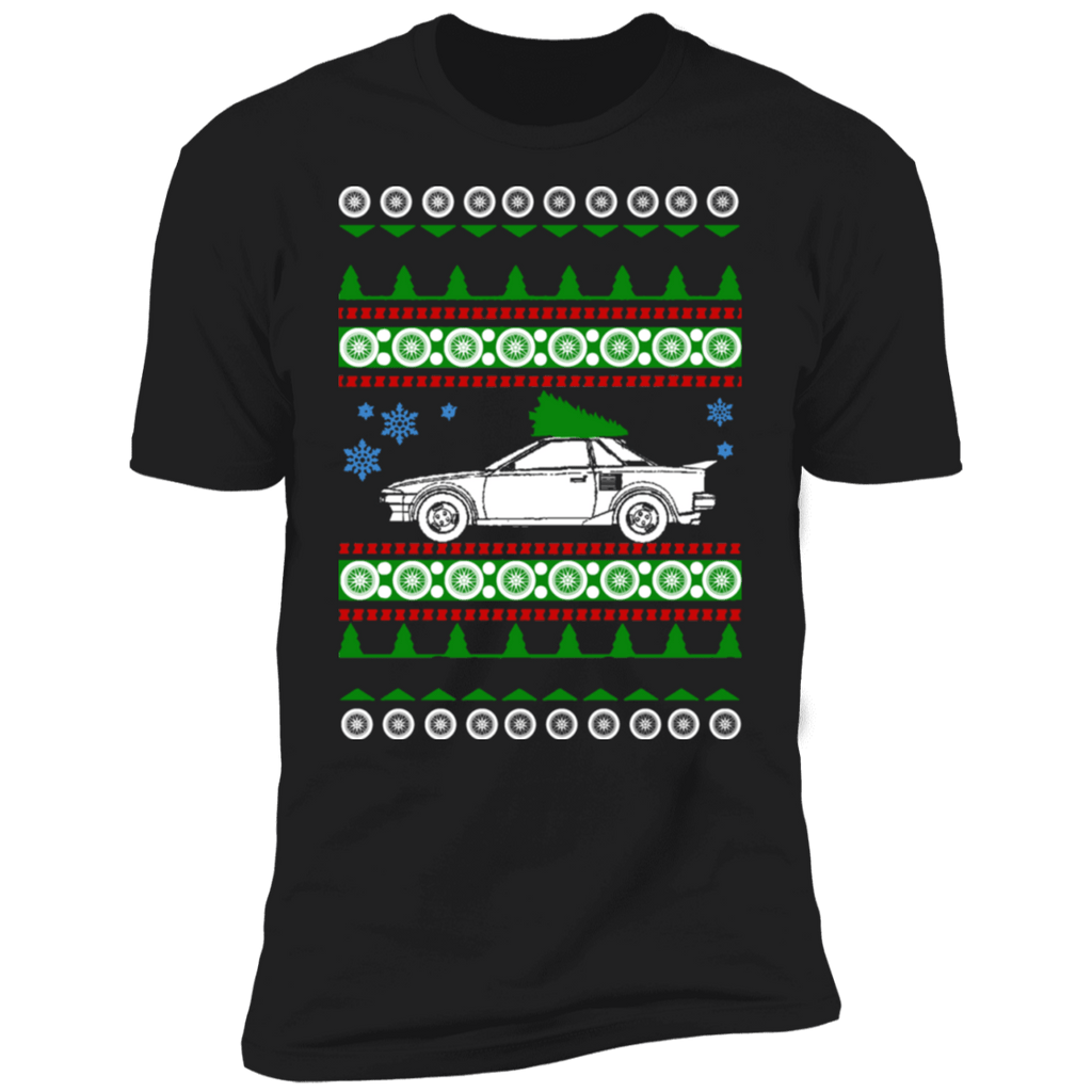 Toyota MR2 1988 Ugly Christmas Sweater T-shirt