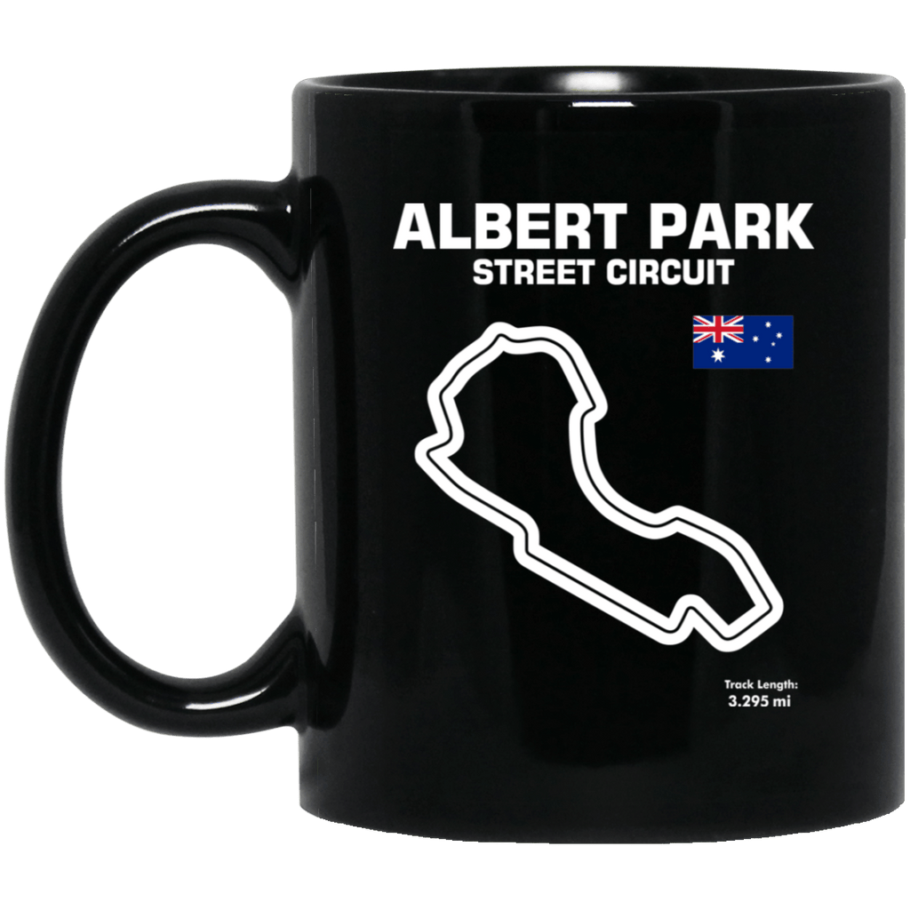 Track Outline Albert Park Street Circuit Coffee Mug