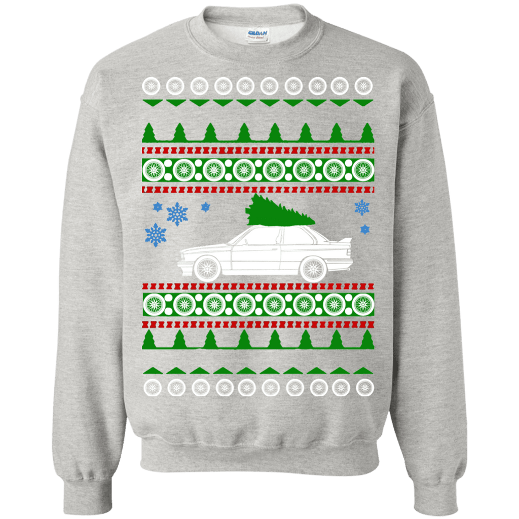 bmw e30 m3 ugly christmas sweater with  green tree
