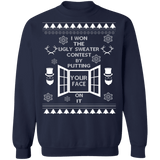 Funny I won the ugly Christmas Sweater Contest ugly sweater sweatshirt