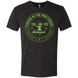 Tool and Dye Forged green logo mens tri-blend
