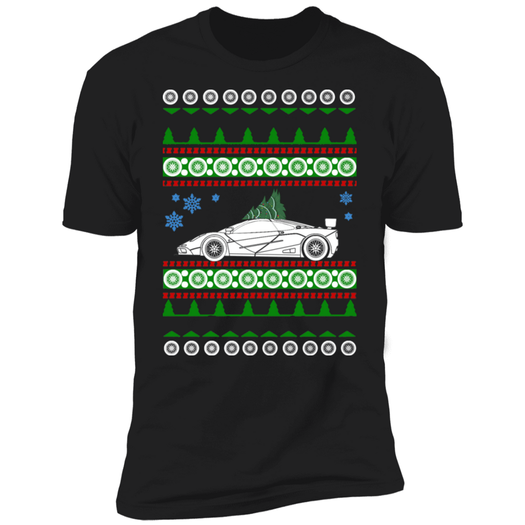 Exotic Car like McLaren F1 Ugly Christmas Sweater style t-shirt