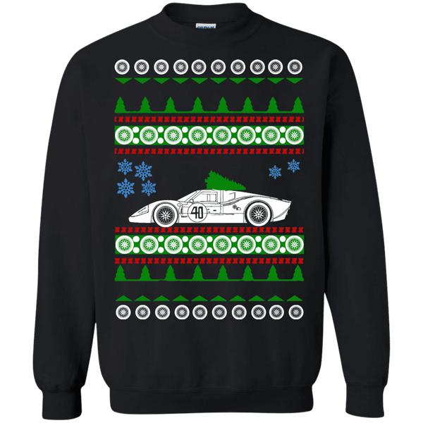 1960s Ford GT LeMans Ugly Christmas Sweater