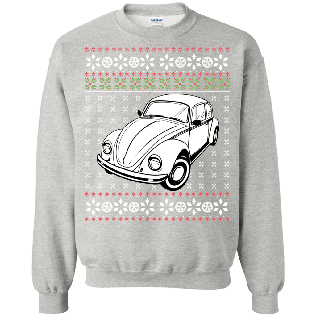 german car beetle 3/4 view ugly christmas sweater vw