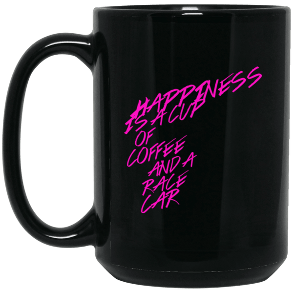 Happiness is a Race Car and Cup of Coffee 15oz Mug