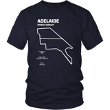 Adelaide Street Circuit Track Outline Series T-shirt (Adelaide Parklands Circuit)