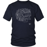Engine Blueprint Series 2013 2014 Trinity 5.8L V8 Ford Mustang GT500 T-shirt and Hoodie