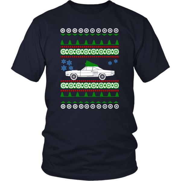 1967 Dodge Coronet R/T Ugly Christmas Sweater t-shirt
