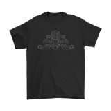 Porsche Air Cooled Engine Blueprint Illustration Series t-shirt