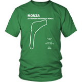 Monza Race Track aka The Autodromo Nazionale Monza Track Outline Series T-shirt