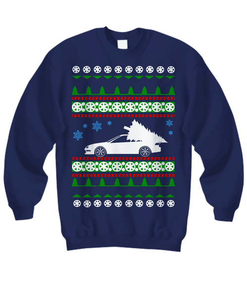 Acura Integra Ugly Christmas Sweater Shirt Navy