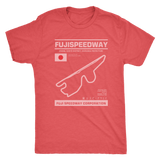 Fuji Speedway Race Track Outline Series T-shirt