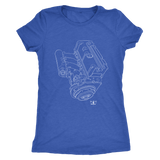 K Series K24 Engine Blueprint Illustration t-shirt and hoodie