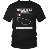 Circuit De La Sarthe 24 Heures Du Mans Track Outline Series Shirt and Hoodie