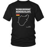 Nurburgring Nordschleife Track Outline Series shirt and hoodie