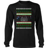 Lancer Evo Voltex front Ugly Christmas Sweater, hoodie and long sleeve t-shirt