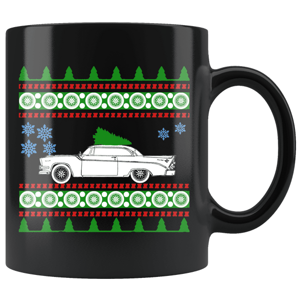 1956 Dodge Coronet D500 Ugly Christmas Sweater Mug