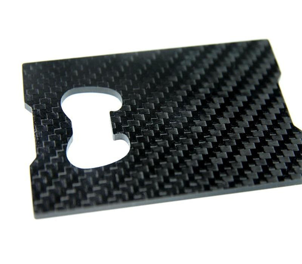 Carbon Fiber Bottle Opener / Card Holder