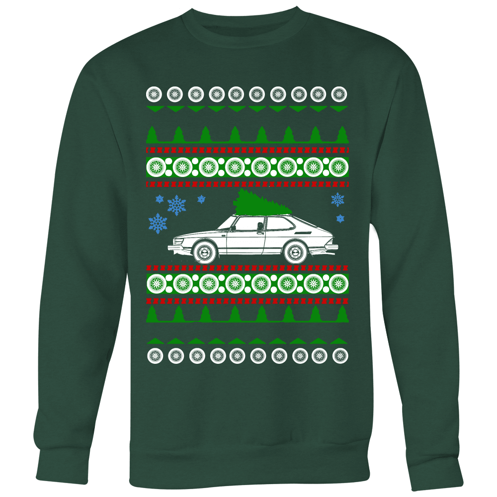 saab 900 ugly christmas sweater