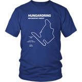 Hungaroring Motorsport Circuit Race Track Outline Series T-shirt