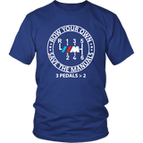 BMW M Row Your Own Save the Manuals 6 speed T-shirt