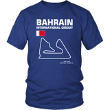Bahrain International Circuit Race Track Outline Series T-shirt and Hoodie