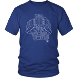 Acura C30A NSX Engine Blueprint Illustration Series T-shirt